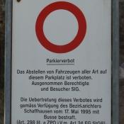 Parkierverbot...