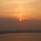 Die Sonne über der Insel Pag